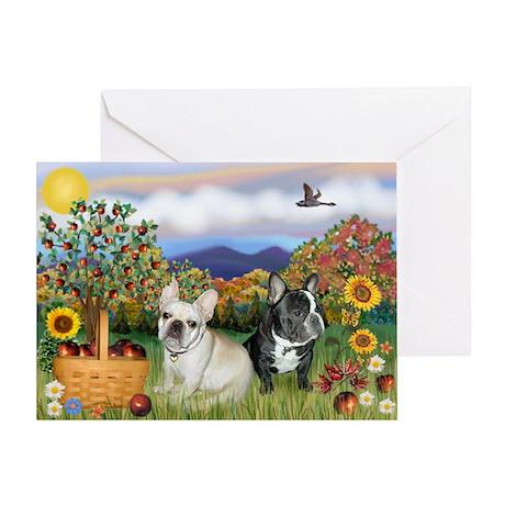 French Bulldog Picnic Greeting Card