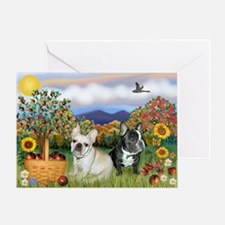 French Bulldog Picnic Greeting Card
