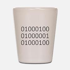 DAD in Binary Code Shot Glass