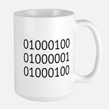 DAD in Binary Code Mugs