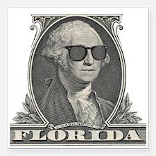 "Washington Visits Florid Square Car Magnet 3"" x 3"""