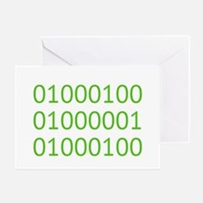 DAD in Binary Code Greeting Cards