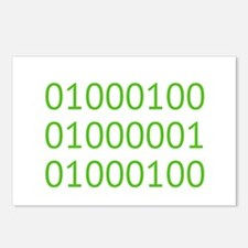DAD in Binary Code Postcards (Package of 8)