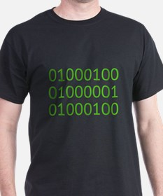 DAD in Binary Code T-Shirt