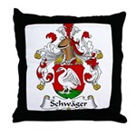 Schwager Family Crest  Throw Pillow