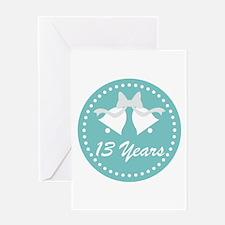 13th Anniversary Wedding Bells Greeting Card