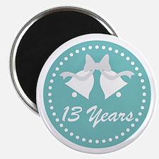 13th Anniversary Wedding Bells Magnet