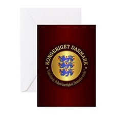 Danmark Emblem Greeting Cards