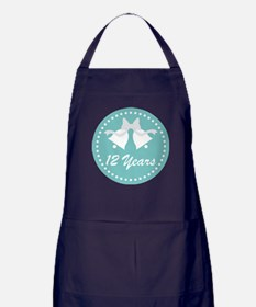 12th Anniversary Wedding Bells Apron (dark)