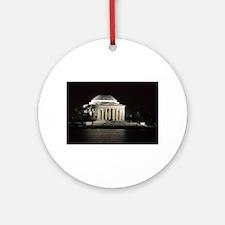 Thomas Jefferson Memorial at Nigh Ornament (Round)