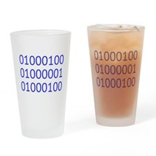 DAD in Binary Code Drinking Glass