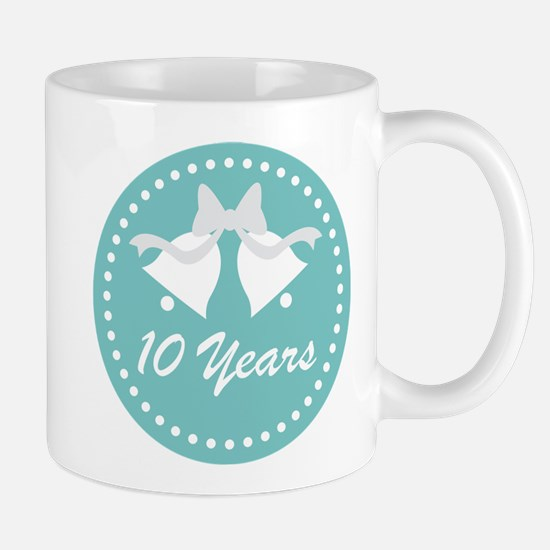 10th Anniversary Wedding Bells Mug