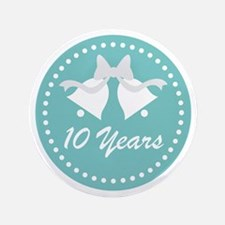 10th Anniversary Wedding Bells Button