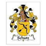 Schutz Family Crest Small Poster