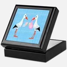 Stork Twins Keepsake Box
