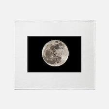 Full moon Throw Blanket