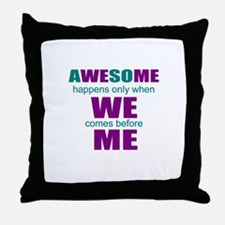 motivational education Throw Pillow