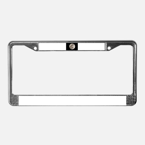 Full moon License Plate Frame