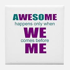 motivational education Tile Coaster