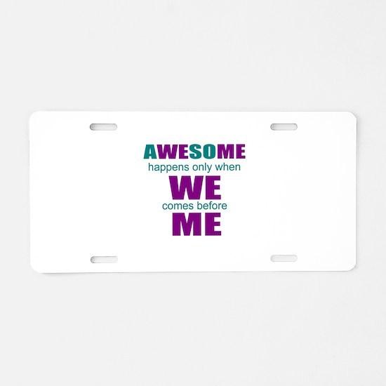 motivational education Aluminum License Plate