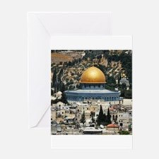Dome of the Rock, Temple Mount, Jer Greeting Cards