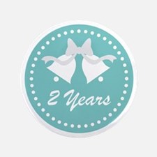 2nd Anniversary Wedding Bells Button
