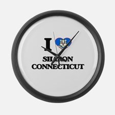 I love Sharon Connecticut Large Wall Clock