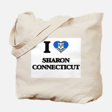 I love Sharon Connecticut Tote Bag