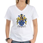Schultheis Family Crest Women's V-Neck T-Shirt