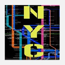 NYC subway map Tile Coaster