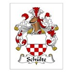 Schulte Family Crest Small Poster