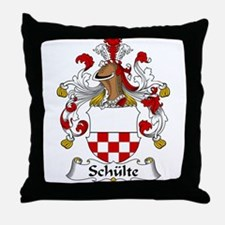 Schulte Family Crest Throw Pillow