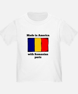 Made In America With Romanian Parts T-Shirt