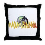 Wombania World Logo II Throw Pillow