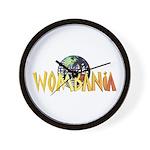 Wombania World Logo II Wall Clock