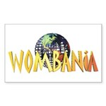 Wombania World Logo II Rectangle Sticker