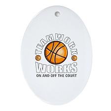 Basketball teamwork Ornament (Oval)
