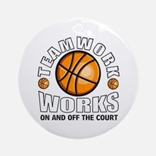 Basketball teamwork Ornament (Round)