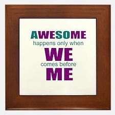 inspirational leadership Framed Tile