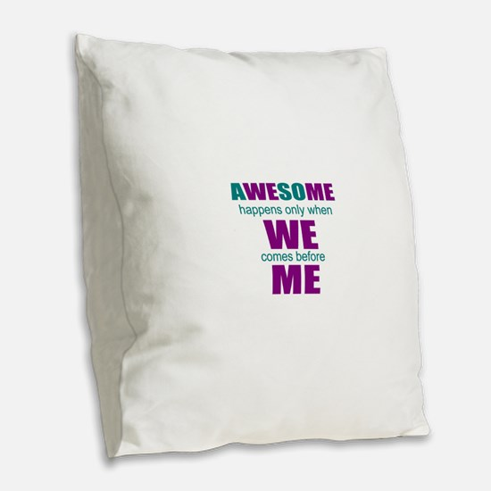 inspirational leadership Burlap Throw Pillow