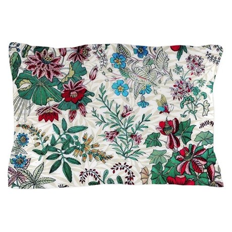 Victorian Floral & Gold Pillow Case by Admin_CP12816694