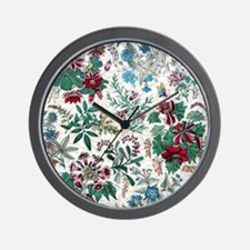 Victorian Floral & Gold Wall Clock