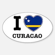 I love Curacao Oval Decal