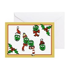 "Single ""Peas on Earth"" Christmas Card"