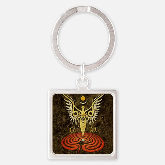 Unique Angelic power Square Keychain