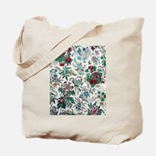Victorian Floral & Gold Tote Bag