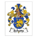 Schotte Family Crest Small Poster