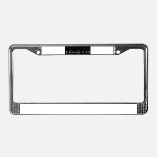 Boathouse Row Night Panoramic License Plate Frame