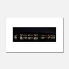 Boathouse Row Night Panoramic Car Magnet 20 x 12