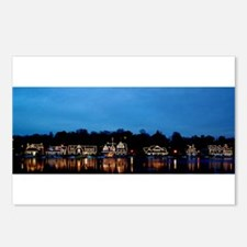 Boathouse Row, Nighttime Postcards (Package of 8)